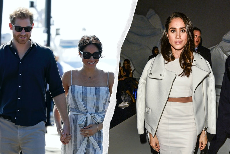 Meghan Markle's '90s outfits run the gamut from spaghetti straps to slip skirts, but one thing they ...