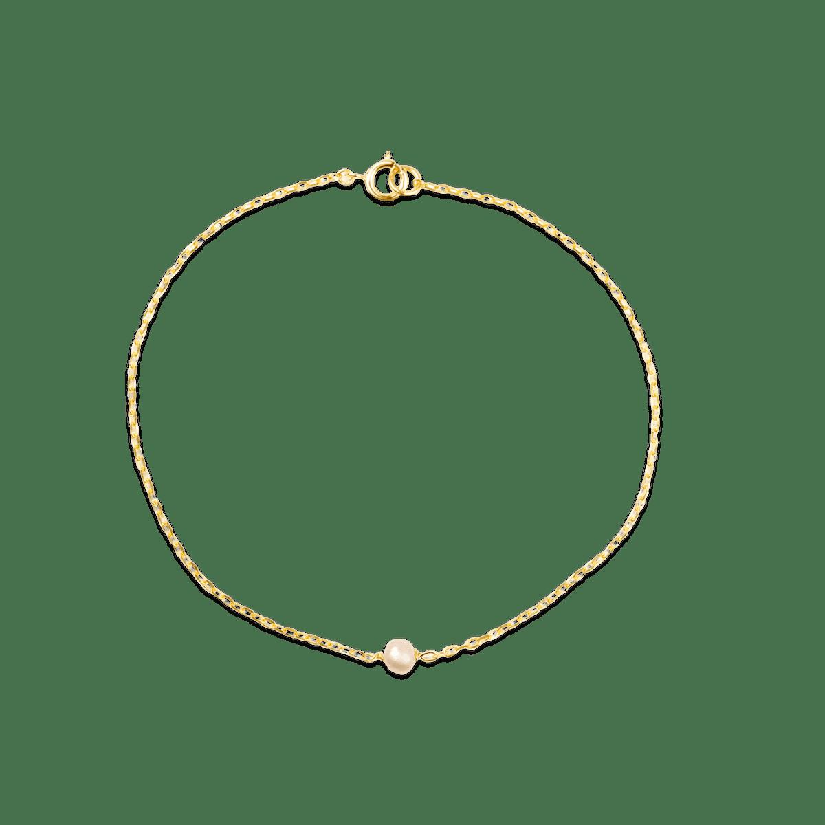 Tiny Solitaire Pearl Bracelet