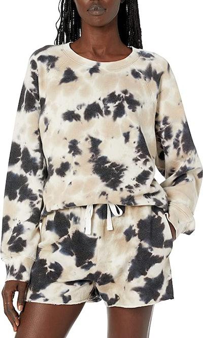 The Drop Women's Caroline Raglan Long-Sleeve Fleece Sweatshirt