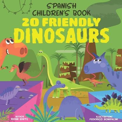 a Spanish children's book about dinosaurs with colorful dinosaur drawings