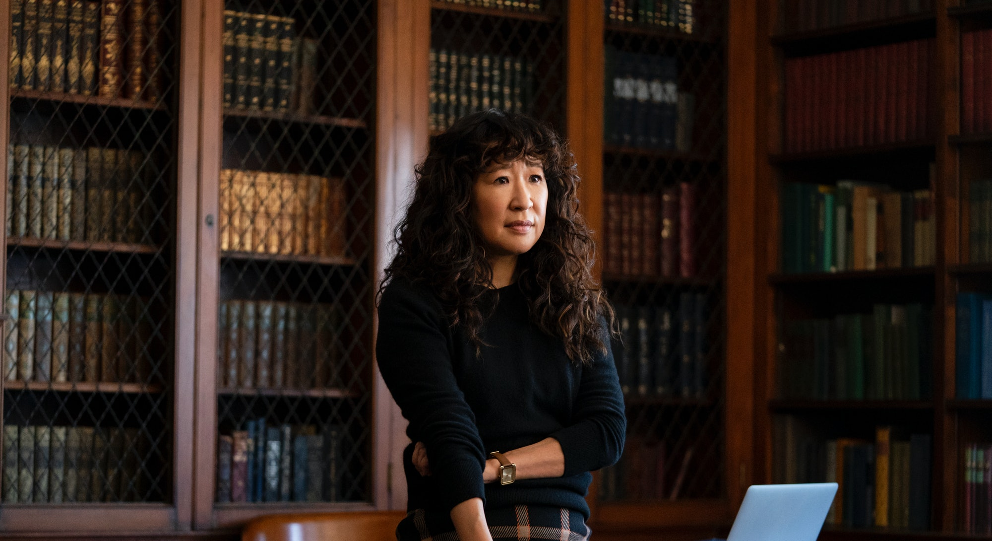 Sandra Oh appears in the series 'The Chair,' via the Netflix press site.