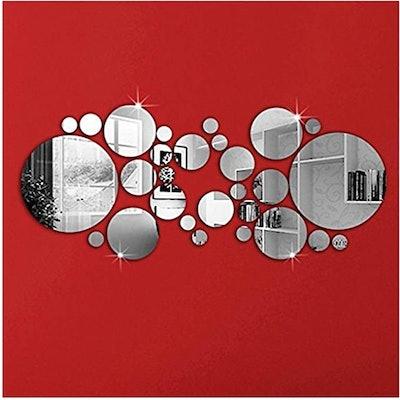 OMGAI DIY Mirror Wall Sticker (30 Pieces)