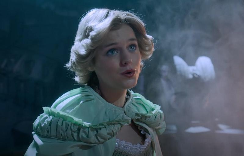 Emma Corrin as Princess Diana in 'The Crown' Season 4 deleted scene.