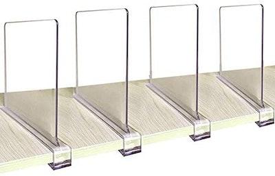 CY craft Acrylic Shelf Dividers (Set of 4)
