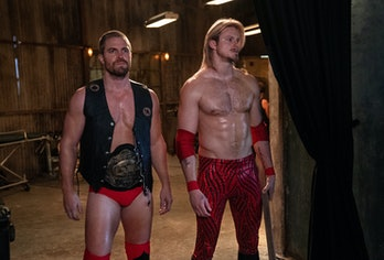 Stephen Amell and Alexander Ludwig play wrestlers in the new Starz drama Heels.
