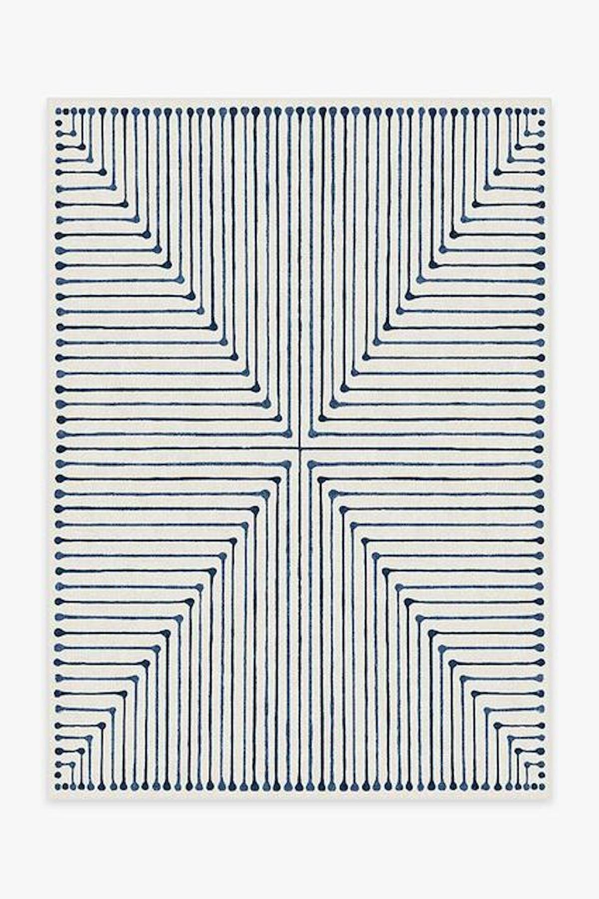 Jonathan Adler Inkdrop Slate Blue Rug