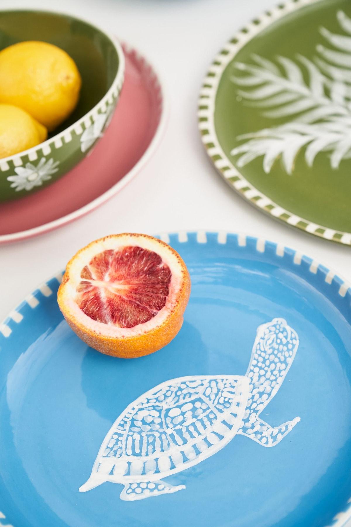 Handpainted Turtle Appetizer Plate