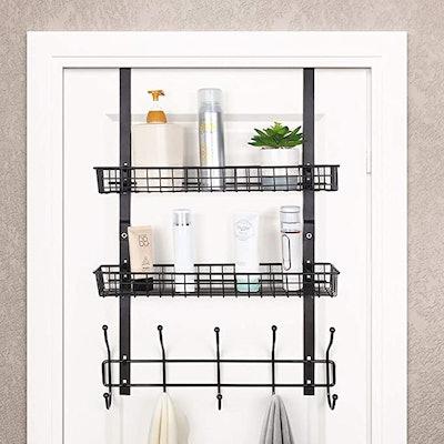 NEX Over The Door Hooks Shelf Organizer