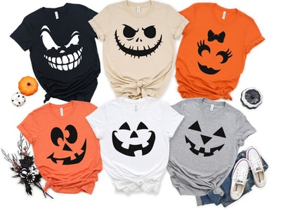 Halloween Pumpkin Face Shirts