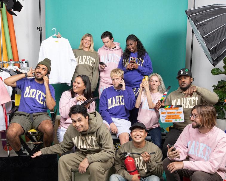 MARKET team wearing MARKET branded sweatshirts