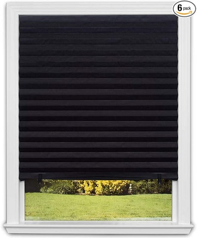 Redi Shade Blackout Pleated Paper Shade (6-Pack)
