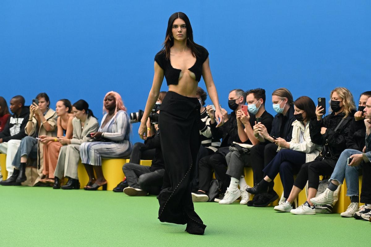 "Kendall Jenner walks the runway during the Jacquemus ""La Montagne"" show at La Cite Du Cinema on June..."