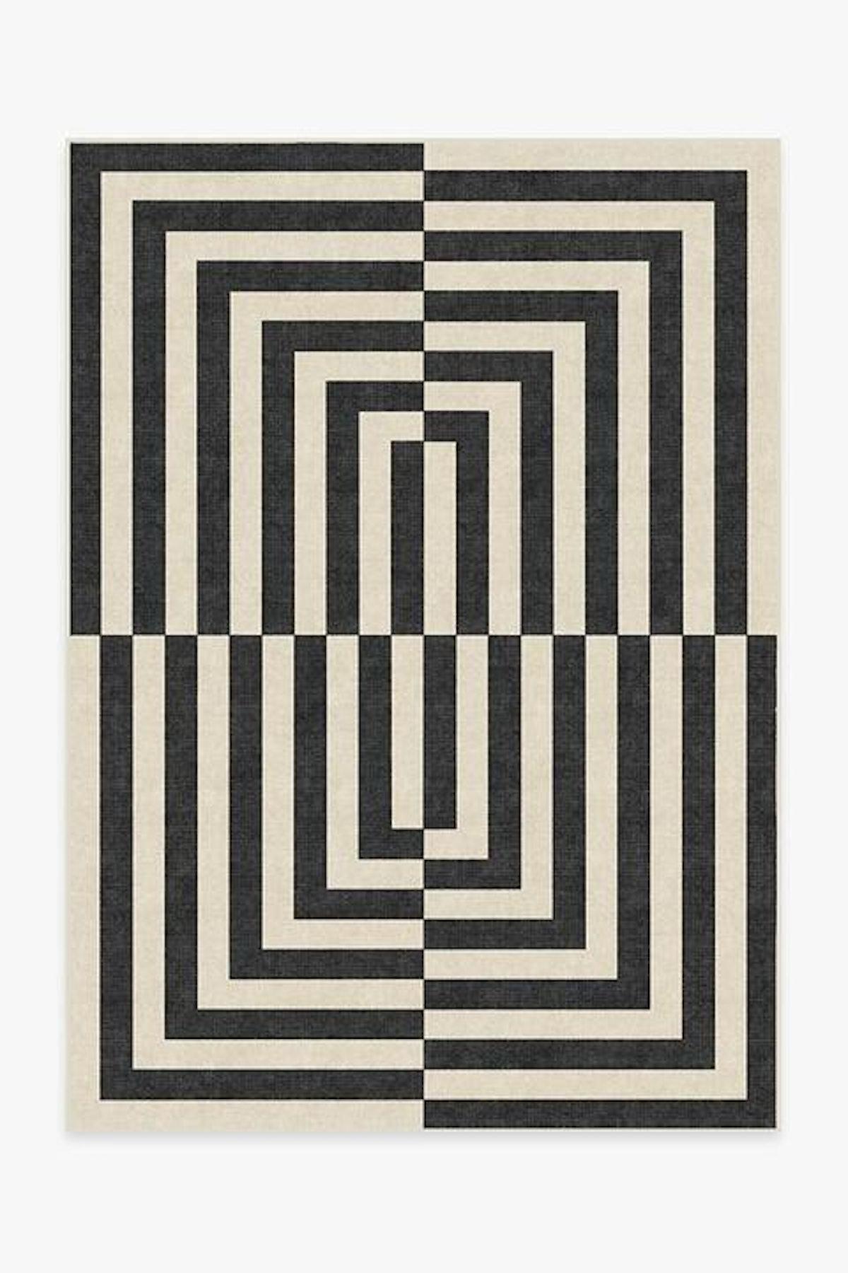 Jonathan Adler Op Art Charcoal Rug