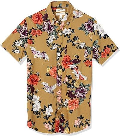 Goodthreads Slim-Fit Short-Sleeve Printed Poplin Shirt