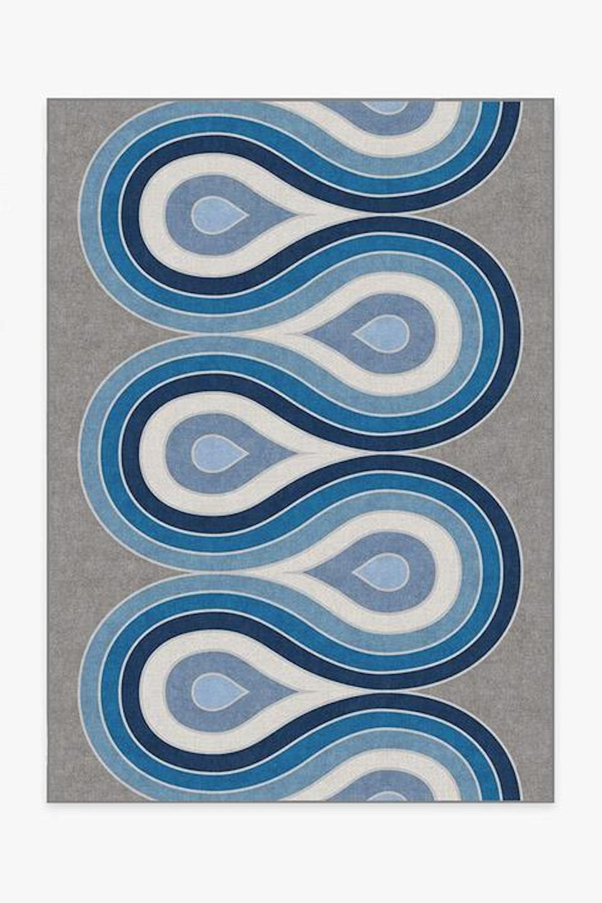 Jonathan Adler Milano Blue Steel Rug