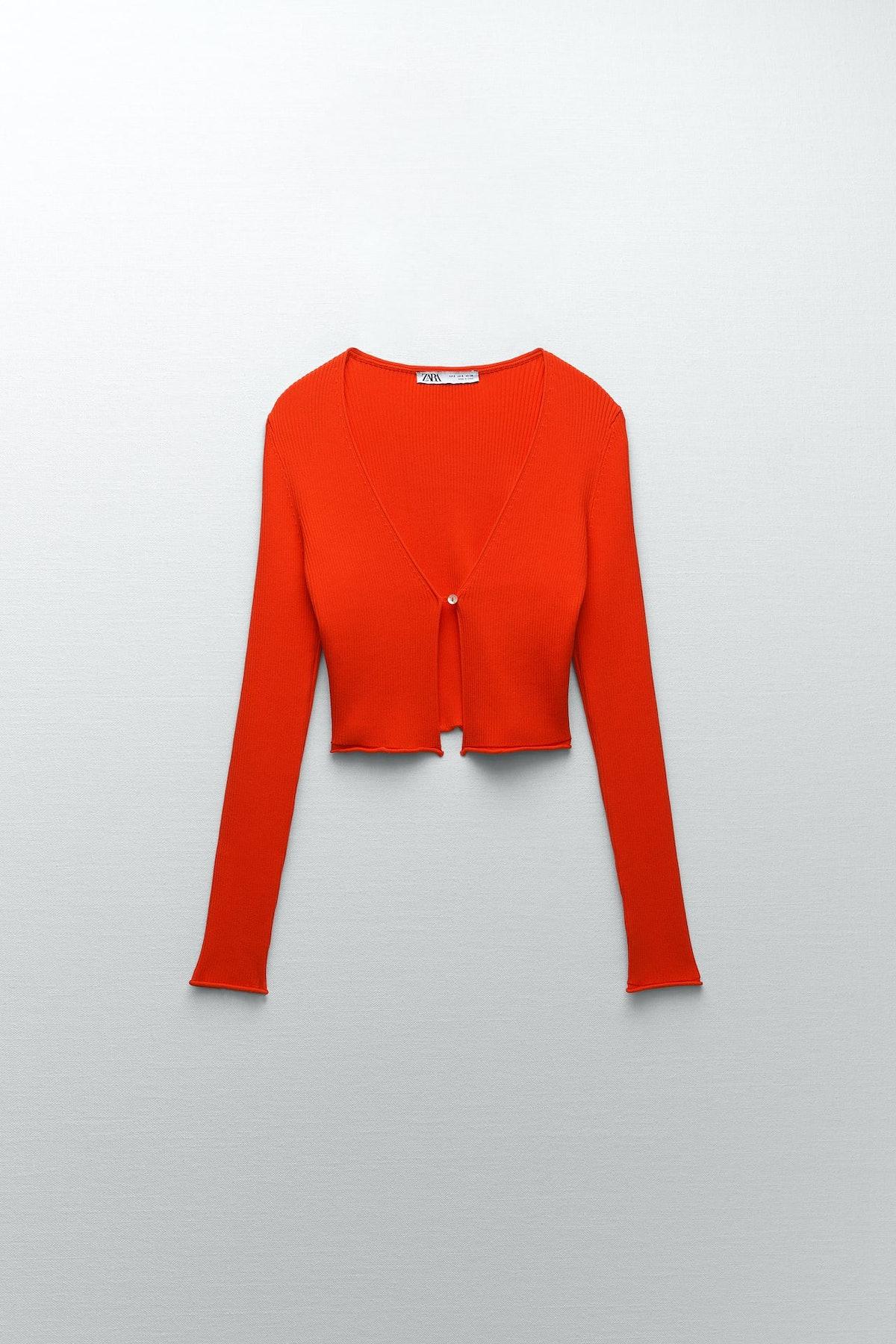 Zara Ribbed Knit Cardigan