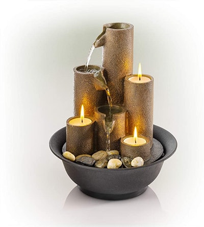 Alpine Corporation Tiered Candle Tabletop Fountain