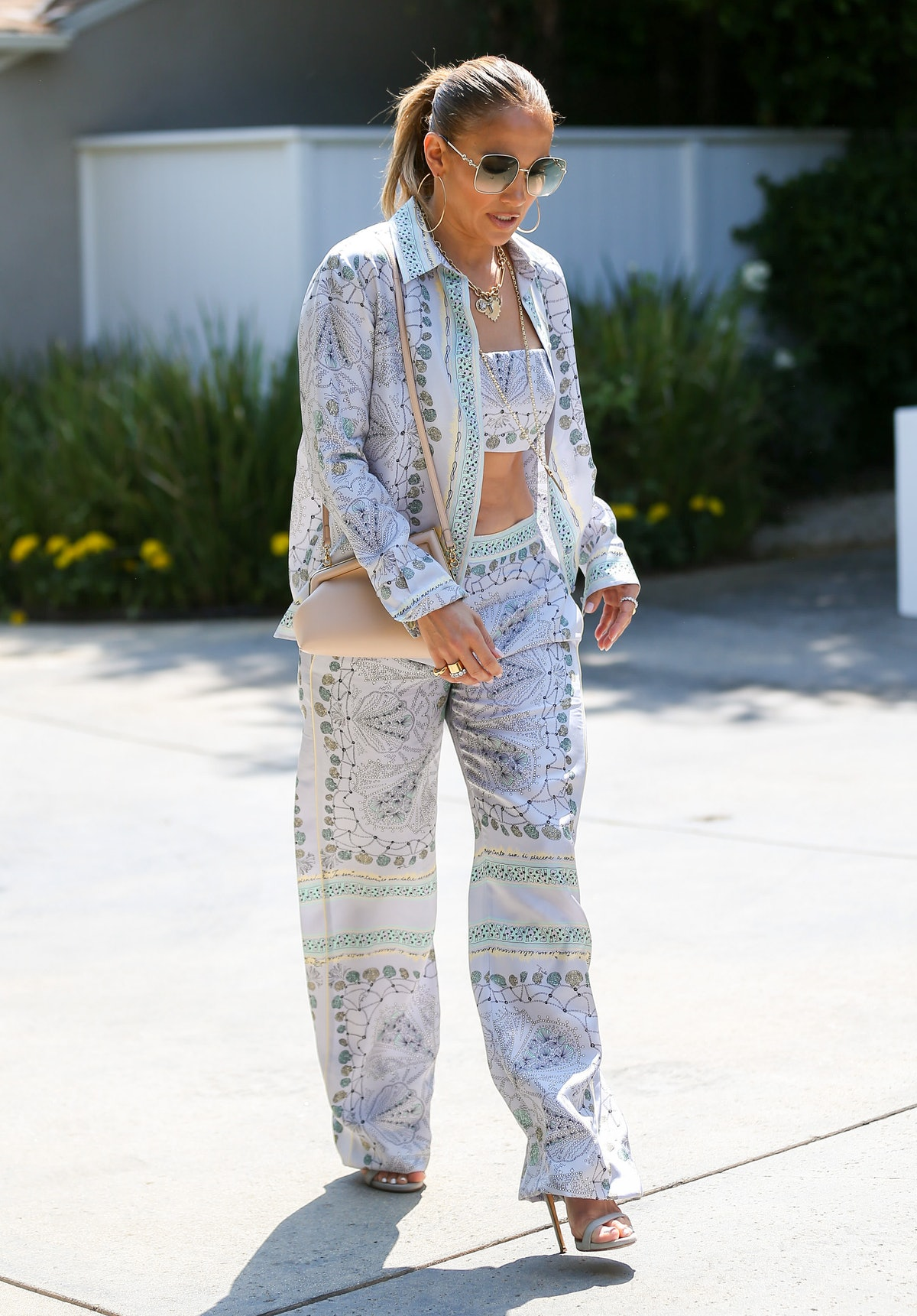 Jennifer Lopez is seen on August 15, 2021 in Los Angeles, California.