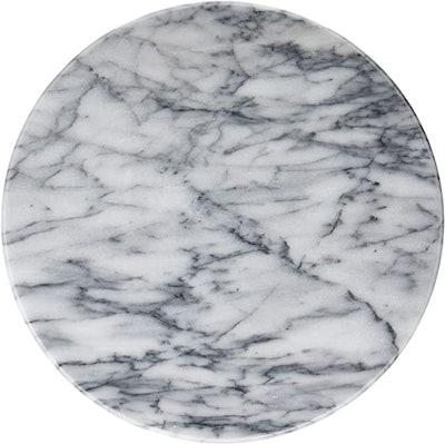 Greenco White Marble Lazy Susan