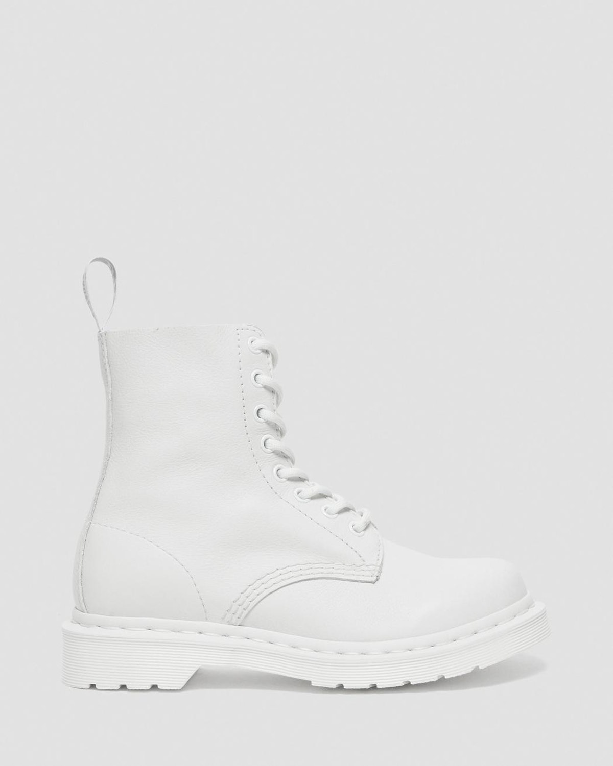 1460 Pascal women's mono lace up all-white boots from Dr. Martens.