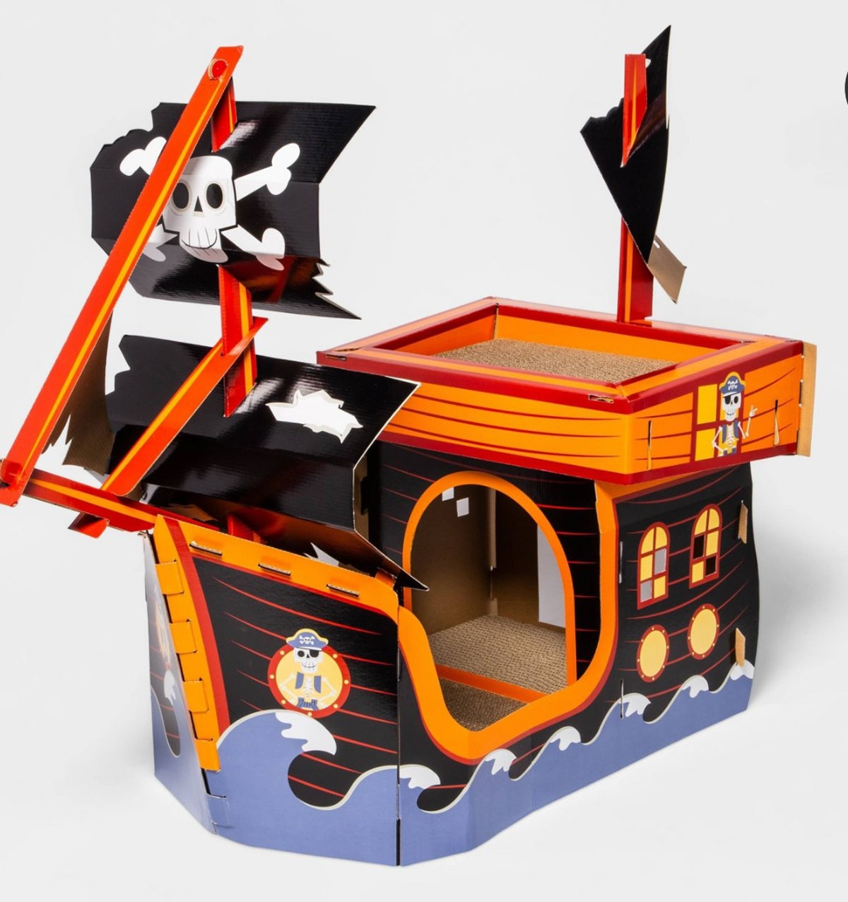 Pirate Ship Cat Scratcher Toy