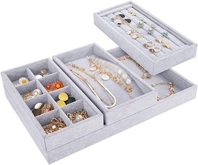Mebbay Jewelry Drawer Organizer