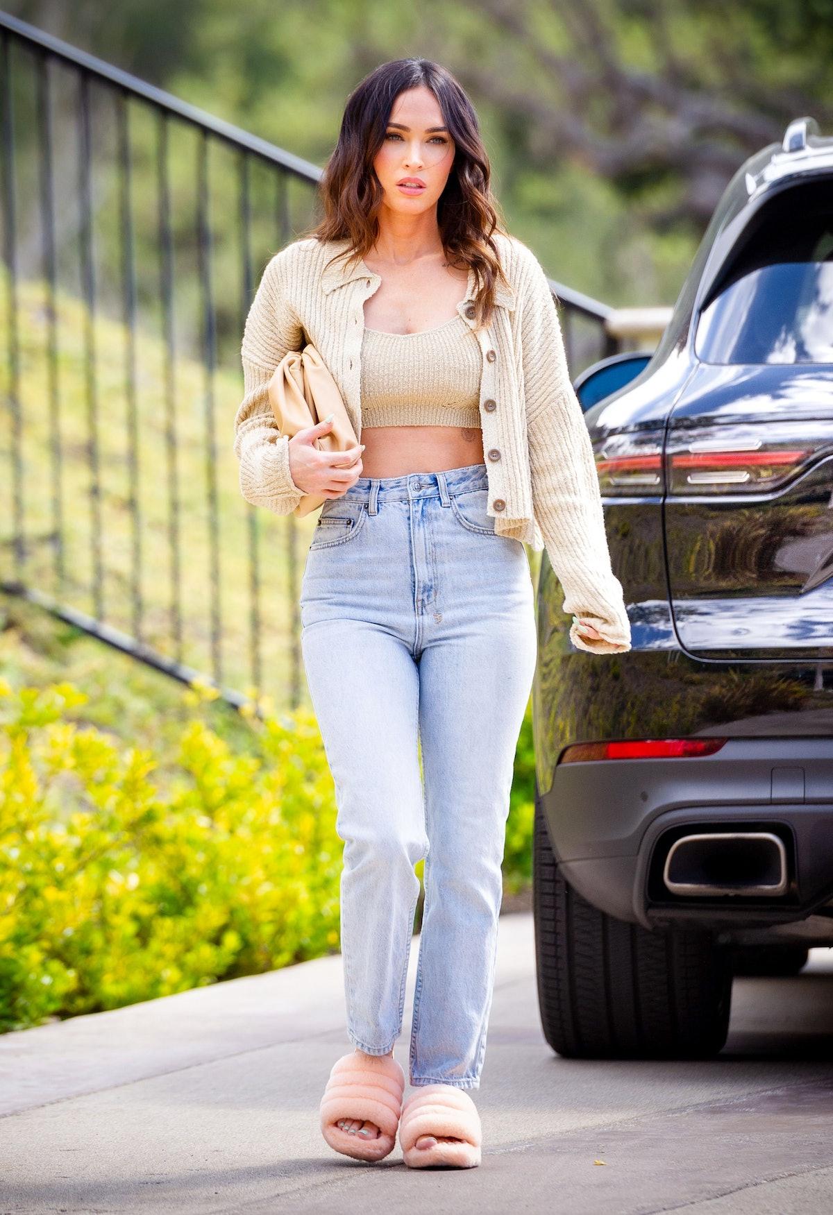 Actress Megan Fox is seen on April 01, 2021 in Los Angeles, California.
