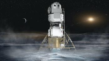 Blue origin moon human landing system
