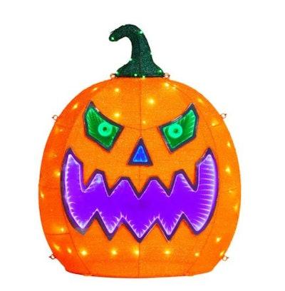 2.5 ft. 217-Light Tape Light Pumpkin Halloween Yard Decoration
