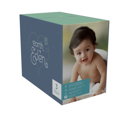 a pack of Earth & Eden disposable diapers from Amazon