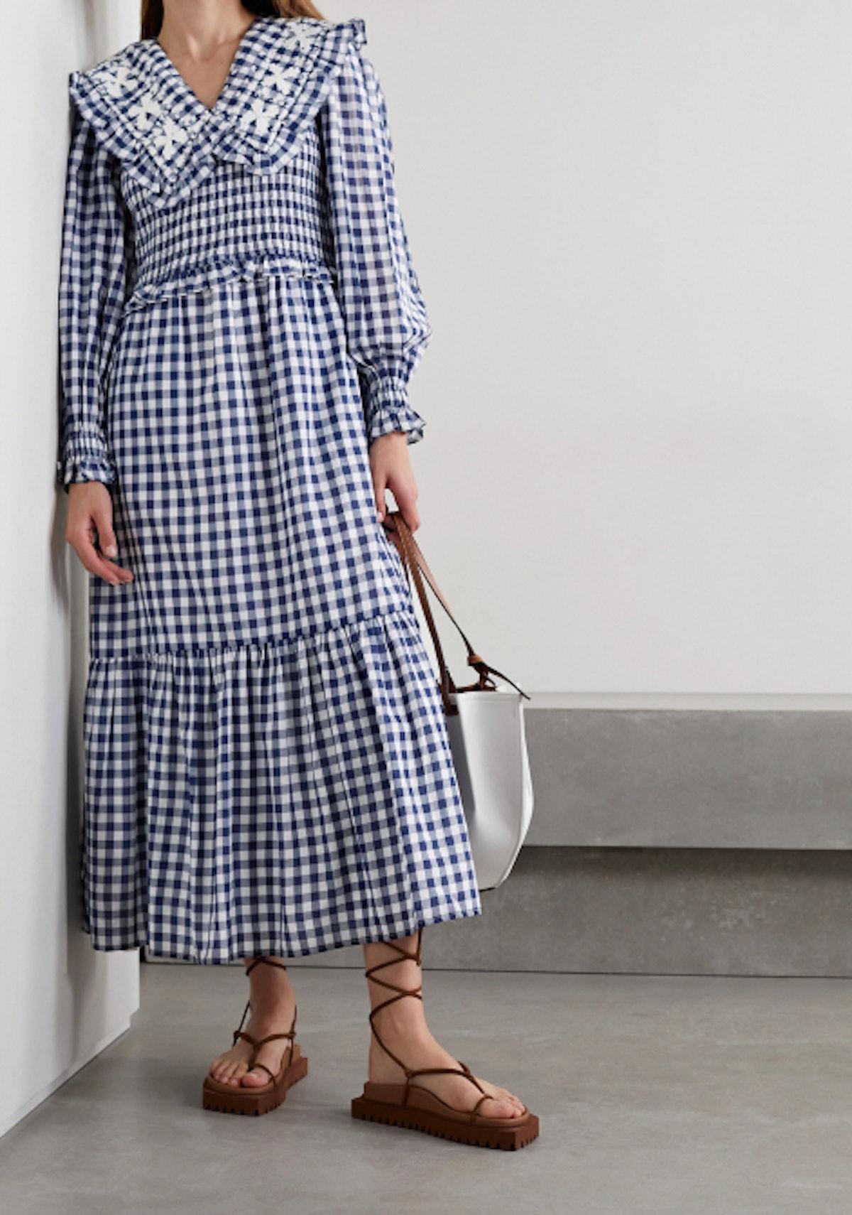 Gina Shirred Midi Dress