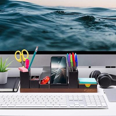 The Office Oasis Desk Organizer with Adjustable Pen Holder