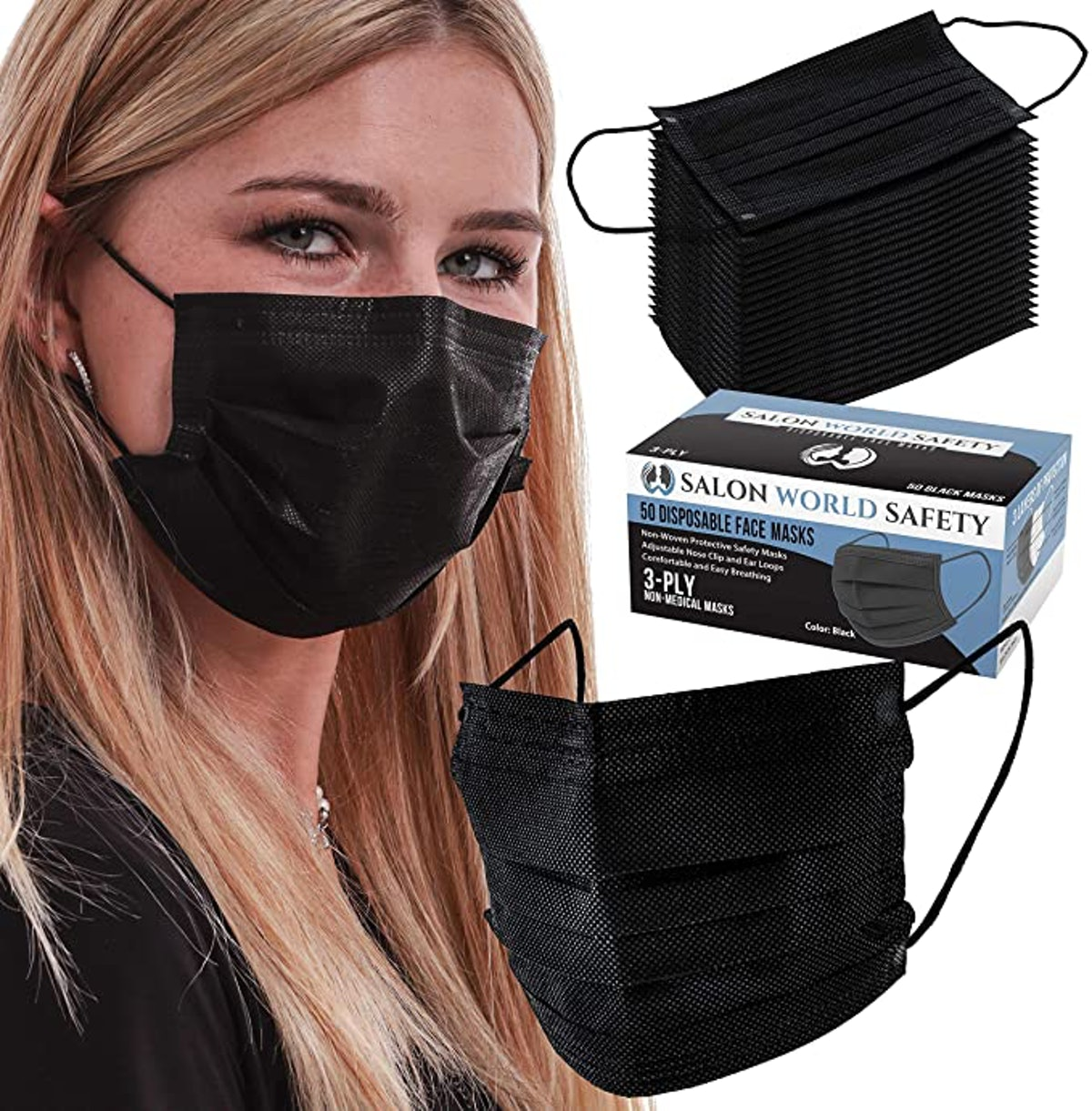 TCP Global 3-Ply Face Masks (50-Pack)