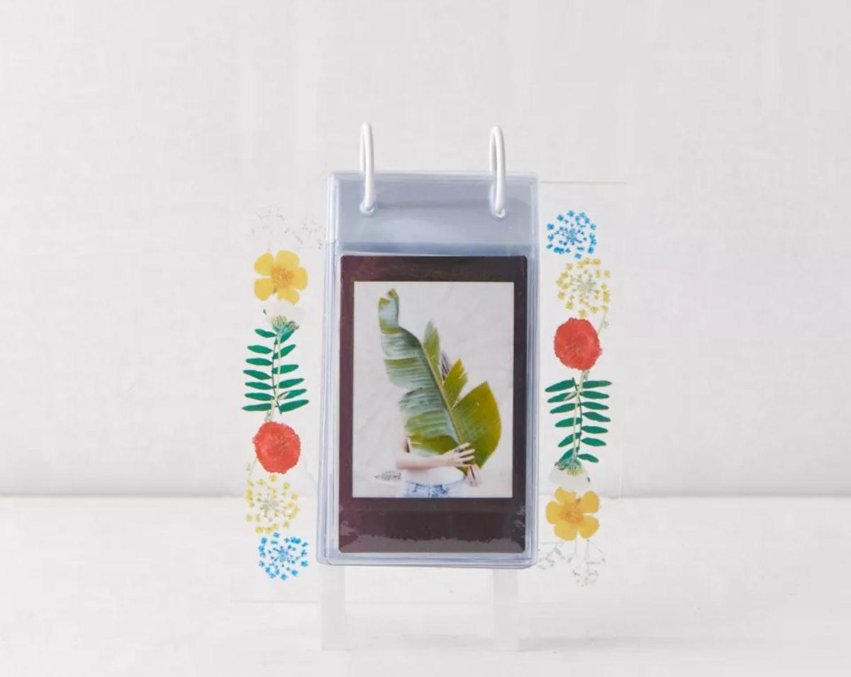 Floral Instax Mini Acrylic Album Photo Frame