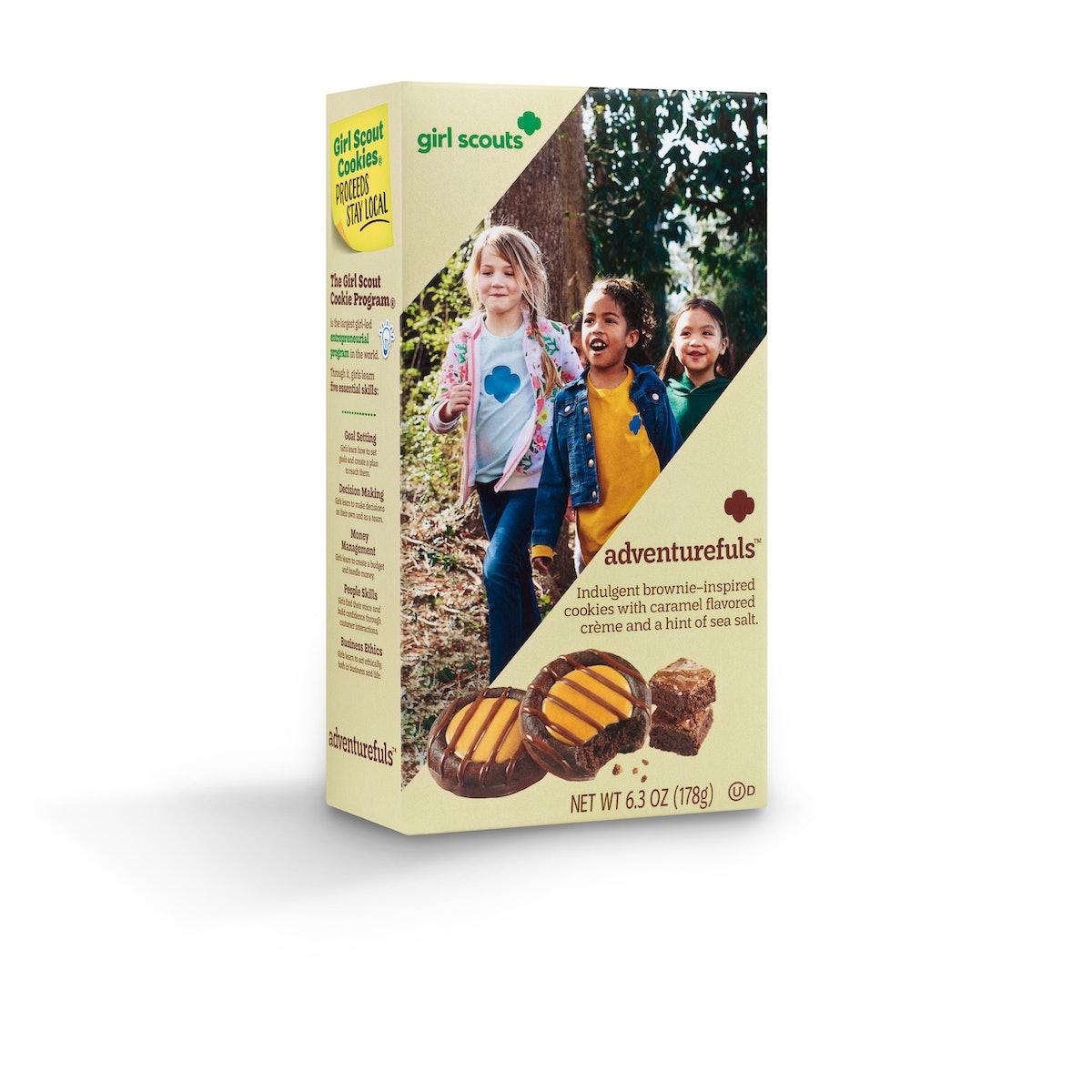 Girl Scouts' Adventurefuls cookies taste like a take on a brownie.
