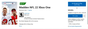 madden 22 release time xbox