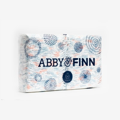a pack of patterned diapers from Abby & Finn