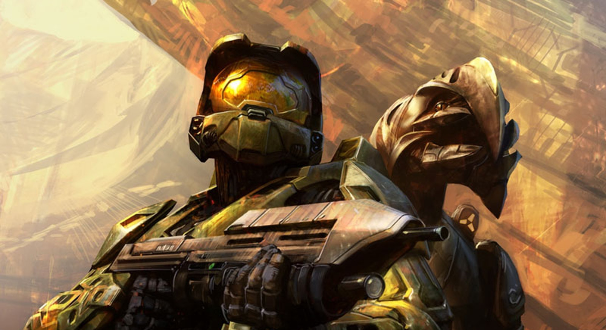 Artwork depicting the Arbiter and Master Chief in a Halo 3 promotion