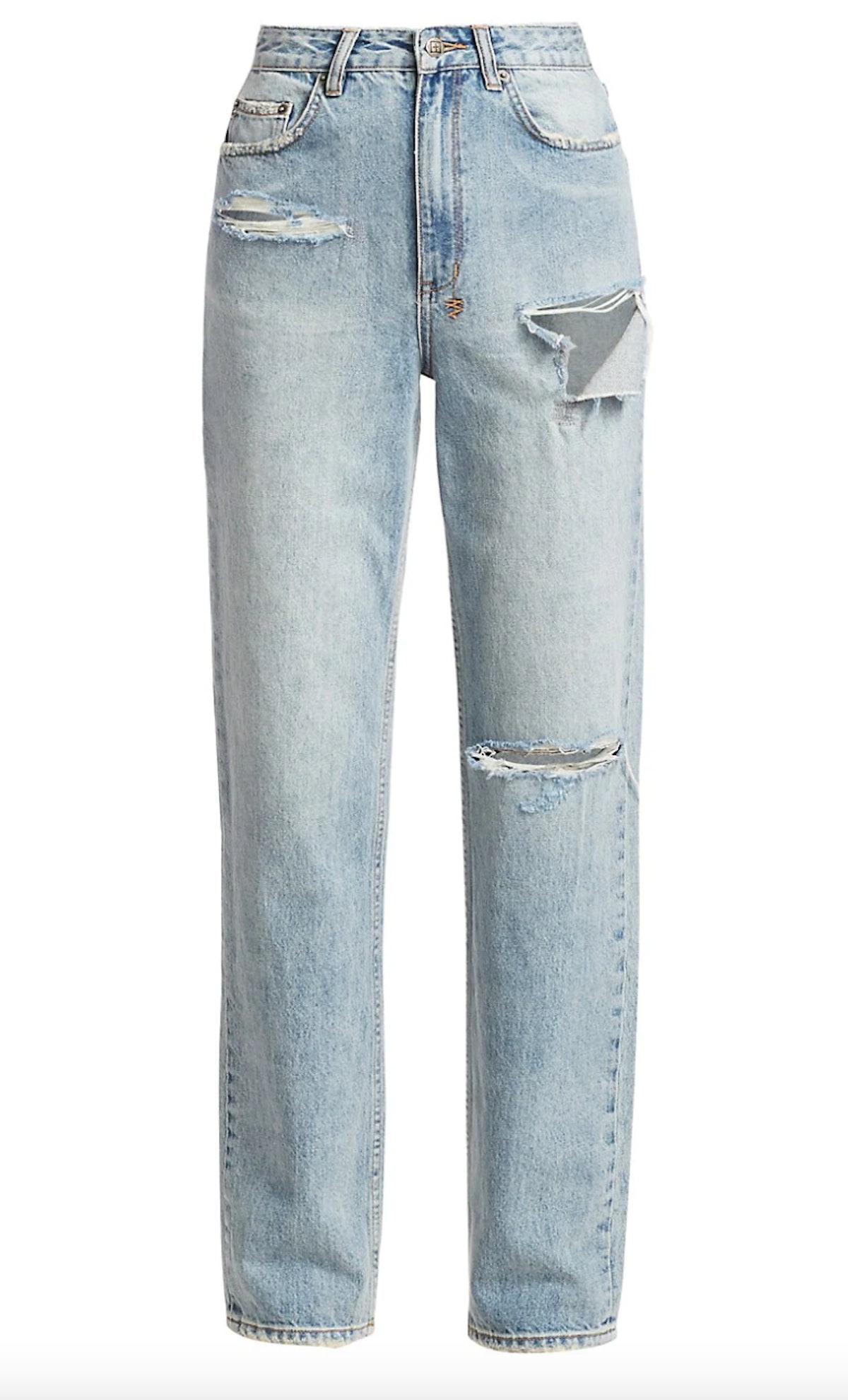 Ksubi's playback high-rise distressed jeans.