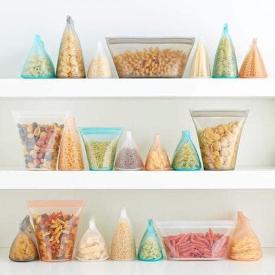 Zip Top Silicone Food Storage Bags (Set of 2)