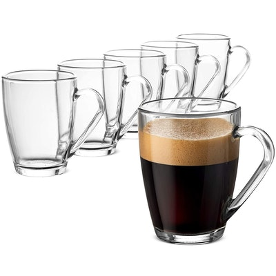 Bormioli Rocco Glass Coffee Mug (6-Pack)