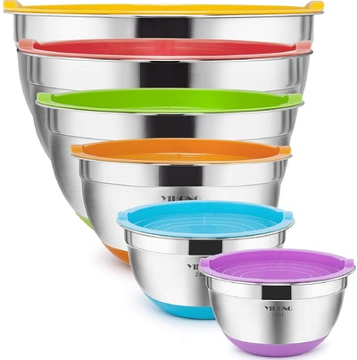 Yihong Stainless Steel Mixing Bowls With Lids (Set of 6)