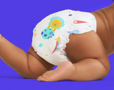 a patterned diaper from Kudos