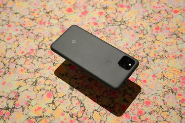 Pixel 5a with 5G review: design, metal unibody, Just Black dark gray dark green color