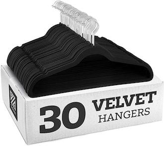 Zober Non-Slip Velvet Hangers (30-Pack)