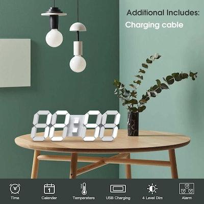 EDUP HOME 3D LED Wall Clock