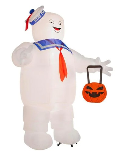 10 ft. Stay Puft with Pumpkin Tote Airblown Halloween Inflatable