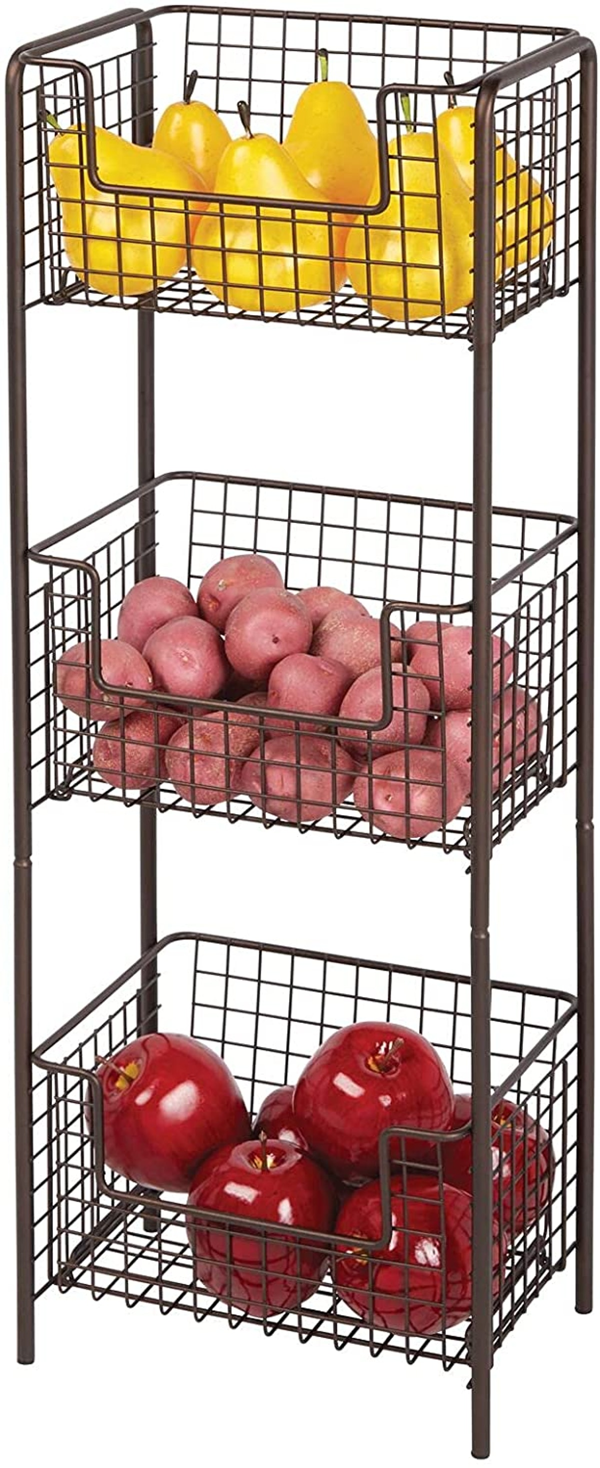 3 Tier Vertical Standing Kitchen Pantry Food Shelving Unit