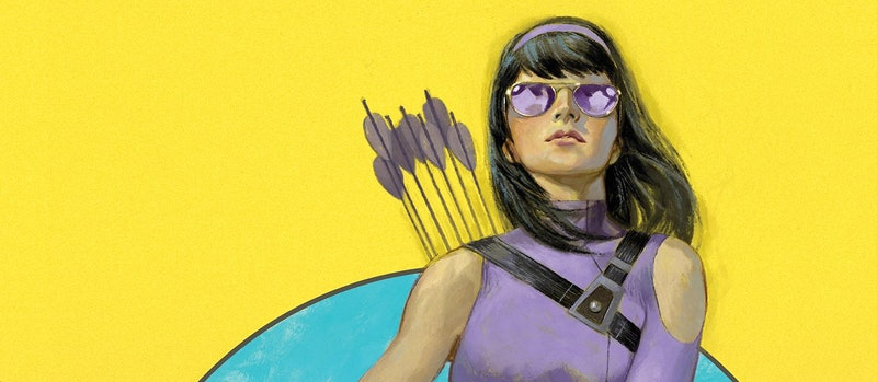 Archer Kate Bishop takes up the mantle of Hawkeye. She also stars in her very own comic book series ...