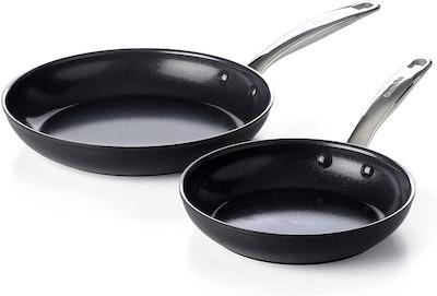 GreenPan Prime Midnight Nonstick Frying Pan Set (Set Of 2)